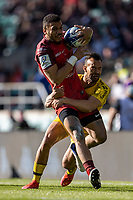 22nd May 2021; Twickenham, London, England; European Rugby Champions Cup Final, La Rochelle versus Toulouse; Dillyn Leyds of La Rochelle is tackled