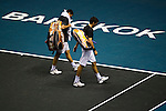 BANGKOK, THAILAND - OCTOBER 01:  Colin Fleming and Ken Skupski of Great Britain leaves the court after loosing their doubles match against Christopher Kas of Germany and Viktor Troicki of Serbia during the Day 7 of the PTT Thailand Open at Impact Arena on October 1, 2010 in Bangkok, Thailand. Photo by Victor Fraile / The Power of Sport Images