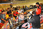 Sep 12, 2009; 9:51:38 PM; Rossburg, OH., USA; The 39th annual running of the World 100 Dirt Late Models racing for the Globe trophy at the Eldora Speedway.  Mandatory Credit: (thesportswire.net)