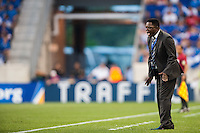 El Salvador head coach Agustin Castillo during a CONCACAF Gold Cup group B match at Red Bull Arena in Harrison, NJ, on July 8, 2013.