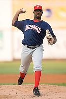 Potomac starting pitcher Shairon Martis (39) in action versus Winston-Salem at Ernie Shore Field in Winston-Salem, NC, Thursday, August 2, 2007.