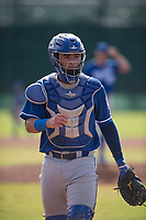 Kansas City Royals catcher Sebastian Rivero (4) during an Instructional League game against the San Francisco Giants at the Giants Training Complex on October 17, 2017 in Scottsdale, Arizona. (Zachary Lucy/Four Seam Images)
