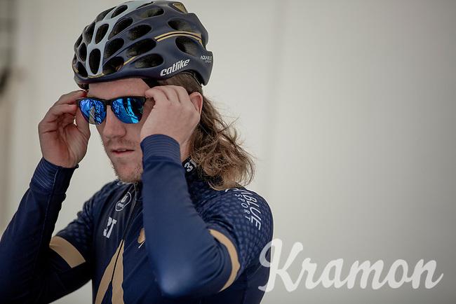 Shane Archbold (NZL/Aqua Blue Sport) pre race. <br /> <br /> 1st Great War Remembrance Race 2018 (UCI Europe Tour Cat. 1.1) <br /> Nieuwpoort > Ieper (BE) 192.7 km