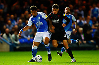 28th August 2021; Weston Homes Stadium, Peterborough, Cambridgeshire, England; EFL Championship football, Peterborough United versus West Bromwich Albion; Jonson Clarke-Harris of Peterborough United tries to hold off Conor Townsend of West Bromwich Albion