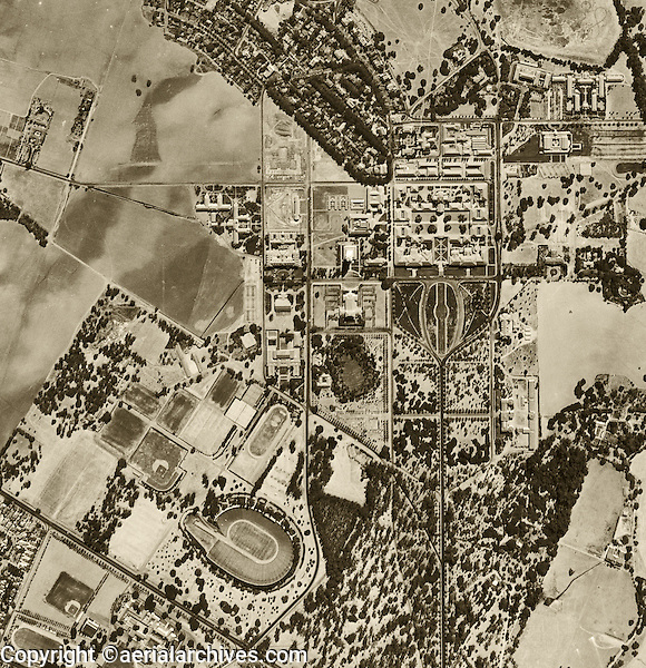 historical aerial photograph Stanford University 1948.<br /> <br /> To obtain current or historical aerial photography of Stanford for a specific project, please submit our research request form available at:<br /> <br /> http://www.aerialarchives.com/download/GeoResearchForm.pdf.