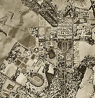 historical aerial photograph Stanford University 1948.<br />