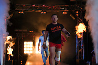 Moscow, Russia, 05/06/2010..Ivan Kosov walks to the ring for a Sambo bout with Achmed Mysaev at the new Fight Nights boxing tournament, including kick-boxing, boxing and mixed fighting.