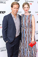 HOLLYWOOD, LOS ANGELES, CA, USA - JULY 08: Actor Nat Faxon and Actress Judy Greer arrive at the Los Angeles Premiere Of FX's 'You're The Worst' And 'Married' held at Paramount Studios on July 8, 2014 in Hollywood, Los Angeles, California, United States. (Photo by Xavier Collin/Celebrity Monitor)