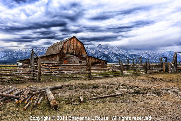 Teton Ranch Barn - Grand Teton NP - Wyoming