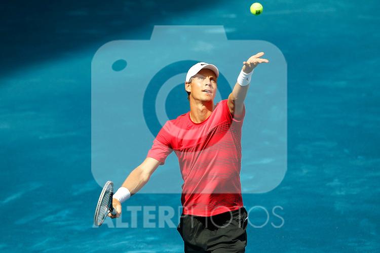 Thomas Berdych during ATP Singles FInal at Mutua Madrid Open 2012 on may 13th 2012...Photo: Cesar Cebolla / ALFAQUI