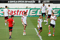 Germany manager Joachim Low with Miroslav Klose and the team warming up behind