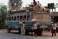 On the Highway number 1 between Danang and Hué, February 1988. Bus stop on the Highway.