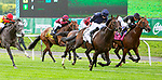 JULY 10, 2021: Bolshoi Ballet (IRE), #2, ridden by Ryan Moore, wins the Gr.1 Belmont Derby Invitational Stakes, going 1 1/4 mile on the turf, at Belmont Park in Elmont, New York. Sue Kawczynski/Eclipse Sportswire/CSM