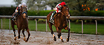 April 13, 2019: Omaha Beach #3, with jockey Mike Smith, wins Arkansas Derby at Oaklawn Racing Casino Resort  on April 13, 2019 in Hot Springs, Arkansas. Photo by Carolyn Simancik/Eclipse Sportswire/Cal Sport Media