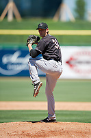 Jupiter Hammerheads relief pitcher Kyle Keller (31) delivers a pitch during a game against the Clearwater Threshers on April 11, 2018 at Spectrum Field in Clearwater, Florida.  Jupiter defeated Clearwater 6-4.  (Mike Janes/Four Seam Images)