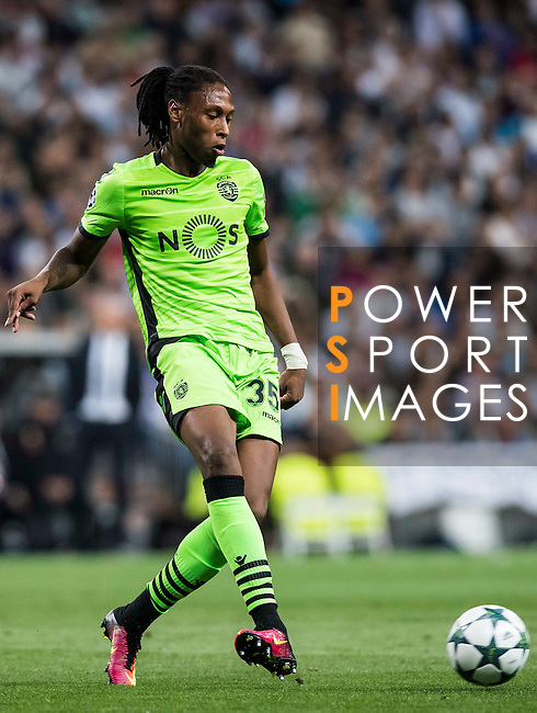 Ruben Semedo of Sporting Portugal in action during their 2016-17 UEFA Champions League match between Real Madrid vs Sporting Portugal at the Santiago Bernabeu Stadium on 14 September 2016 in Madrid, Spain. Photo by Diego Gonzalez Souto / Power Sport Images