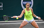 Apr 05 2017:  Shelby Rogers (USA) battles Madison Keys (USA) during the Volvo Car Open being played on  at Family Circle Tennis Center in Charleston, South Carolina, USA  ©Leslie Billman/Tennisclix/Cal Sport Media
