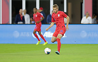 WASHINGTON, D.C. - OCTOBER 11: Jackson Yueill #14 of the United States passes a ball during their Nations League game versus Cuba at Audi Field, on October 11, 2019 in Washington D.C.