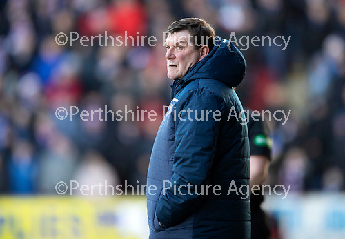 St Johnstone v Rangers…..23.02.20   McDiarmid Park   SPFL<br />Saints manager Tommy Wright<br />Picture by Graeme Hart.<br />Copyright Perthshire Picture Agency<br />Tel: 01738 623350  Mobile: 07990 594431