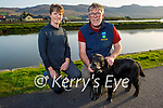 Enjoying a stroll in Blennerville on Tuesday evening, l to r: Grainne and Brian Quilter with Chockie their dog