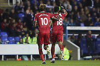 Jordan Ayew of Swansea City celebrates scoring his sides second goal of the match during the Carabao Cup Third Round match between Reading and Swansea City at Madejski Stadium, Reading, England, UK. Tuesday 19 September 2017