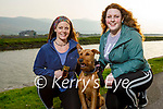 Taking Scout the dog for a walk in Blennerville on Thursday are Denise and Chloe Steward.