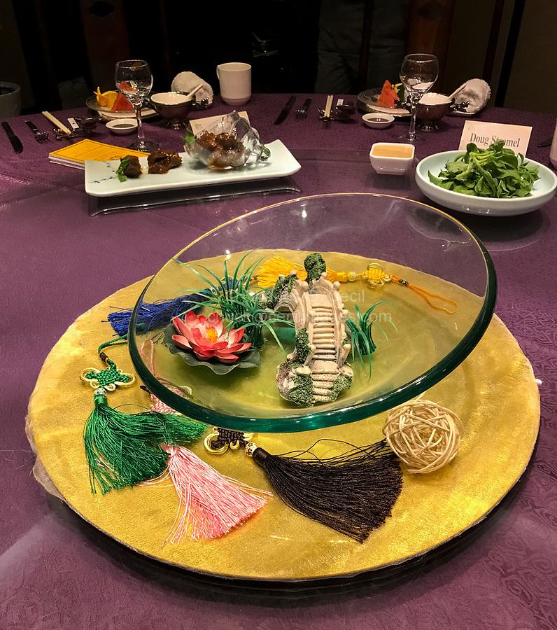 Yangzhou, Jiangsu, China.  Table Decoration for Lunch.