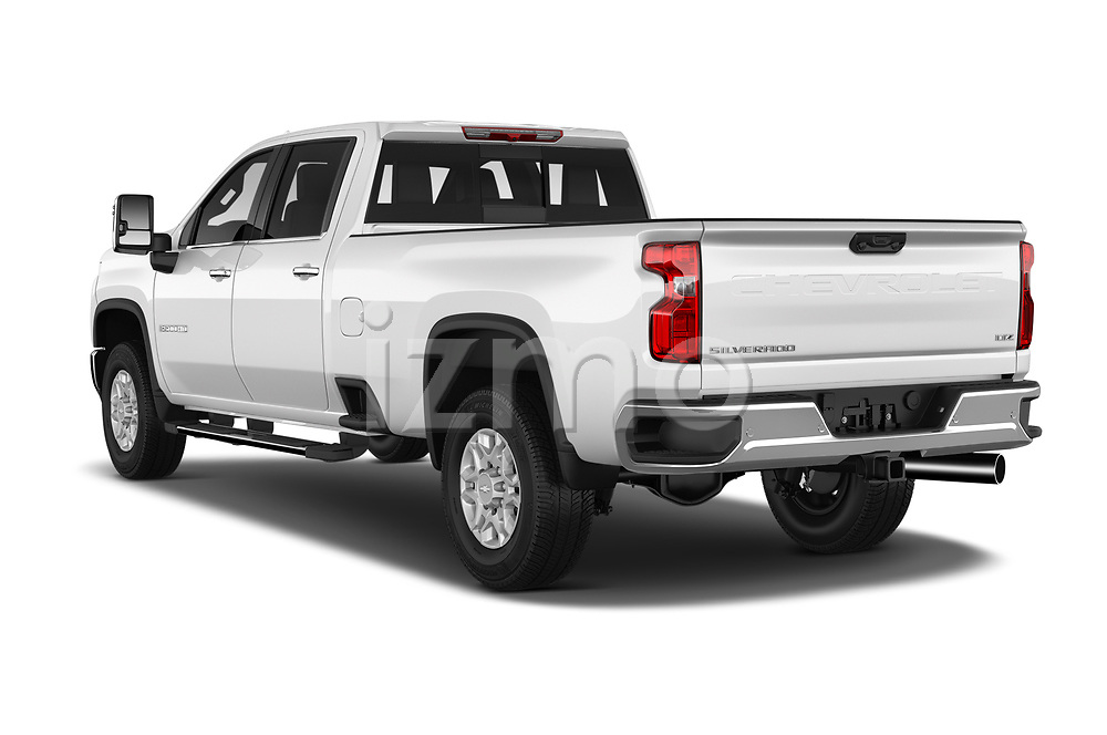 Car pictures of rear three quarter view of 2020 Chevrolet Silverado-3500 LTZ 4 Door Pick-up Angular Rear
