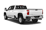 Car pictures of rear three quarter view of 2020 Chevrolet Silverado-3500 LTZ 4 Door Pick-up Angular Rear