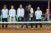 September 12, 2014, Netherlands, Amsterdam, Ziggo Dome, Davis Cup Netherlands-Croatia, Presentation, team Croatia<br /> Photo: Tennisimages/Henk Koster