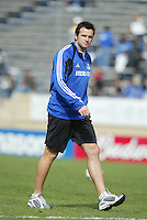 24 October 2004: Chris Klein of Wizards before the game against Earthquakes at Spartan Stadium in San Jose, California.   Earthquakes defeated Wizards, 2-0.  Credit: Michael Pimentel / ISI