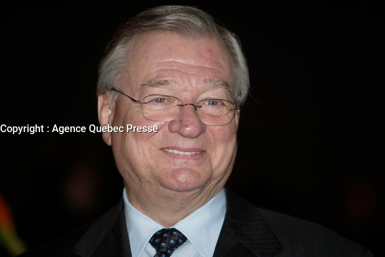 Laval (QC) Canada) , March 29,2007<br /> <br /> Gilles Vaillancourt, Mayor of Laval and Honorary President of<br /> the Genesis Gala  after BIOMEDEX 2007 - in Laval  , near Montreal, CANADA, March 29, 2007.<br /> <br /> photo (c) 2007  Pierre Roussel-  Images Distribution