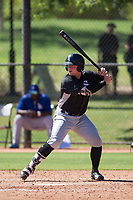 Evan Skoug (15) of the Chicago White Sox at bat during an Instructional League game against the Los Angeles Dodgers on September 30, 2017 at Camelback Ranch in Glendale, Arizona. (Zachary Lucy/Four Seam Images)