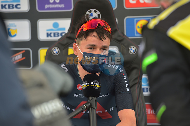 Tom Pidcock (GBR) Ineos Grenadiers takes his maiden World Tour victory at the end of the 2021 Brabantse Pijl running 201.7km from Leuven to Overijse, Belgium. 14th April 2021.  <br /> Picture: Serge Waldbillig | Cyclefile<br /> <br /> All photos usage must carry mandatory copyright credit (© Cyclefile | Serge Waldbillig)