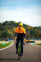 30th October 2020, Imola, Italy; FIA Formula 1 Grand Prix Emilia Romagna, inspection day;  Lando Norris GBR 4, McLaren F1 Team