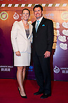 HAIKOU, CHINA - OCTOBER 29:  Annika Sorenstam and her husband attend red carpet during day three of the Mission Hills Start Trophy tournament at Mission Hills Resort on October 29, 2010 in Haikou, China. Photo by Victor Fraile / The Power of Sport Images