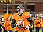 Oklahoma State Cowboys quarterback Clint Chelf (10) in action during the game between the Oklahoma Sooners and the Oklahoma State Cowboys at the Boone Pickens Stadium in Stillwater, OK. Oklahoma State defeats Oklahoma 44 to 10..