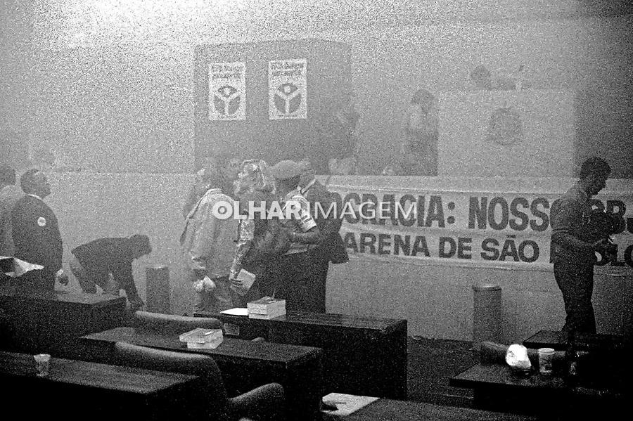 Convenção do partido politico Arena, eleições indiretas. SP. 1978. Foto de Juca Martins.