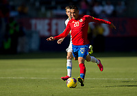 CARSON, CA - FEBRUARY 1: David Guzman #20 of Costa Rica dribbles with the ball during a game between Costa Rica and USMNT at Dignity Health Sports Park on February 1, 2020 in Carson, California.