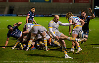 27th December 2020; AJ Bell Stadium, Salford, Lancashire, England; English Premiership Rugby, Sale Sharks versus Wasps; Will Cliff of Sale Sharks clears the ball