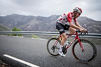 Jelle Wallays (BEL/Lotto-Soudal) up the first categorised climb of the day: the Puerto de Bernardo<br /> <br /> Stage 20: Arenas de San Pedro to Plataforma de Gredos (190km)<br /> La Vuelta 2019<br /> <br /> ©kramon
