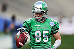 North Texas Mean Green wide receiver Garrett Barton (85) in action before the Zaxby's Heart of Dallas Bowl game between the Army Black Knights and the North Texas Mean Green at the Cotton Bowl Stadium in Dallas, Texas.