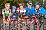 CHAIN GANG CHALLENGE: The Killarney Cycling team with a member of the Valley Wheelers Cycling club raring to go in the Chain Gang Challenge at the CBS the Green, Tralee on Saturday l-r: Donnacha and Brendan Cassidy, Mike Leary, Stephen Sullivan (Valley Wheelers) and John McCarthy..