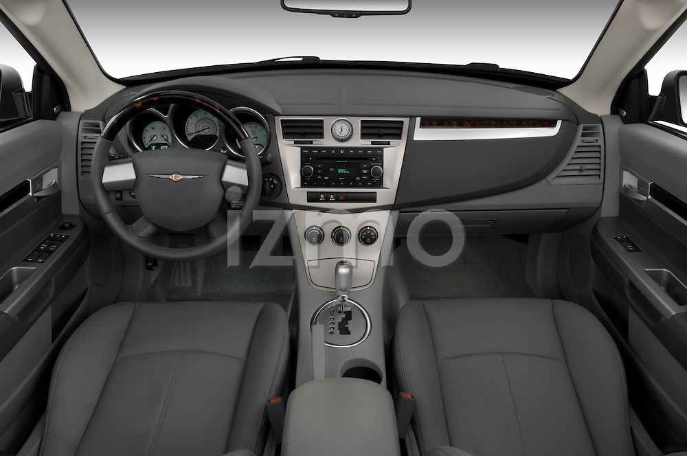 Straight dashboard view of a 2008 Chrysler Sebring Convertible.
