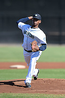 Seattle Mariners pitcher Freddy Peralta (36) during an Instructional League game against the Milwaukee Brewers on October 4, 2014 at Peoria Stadium Training Complex in Peoria, Arizona.  (Mike Janes/Four Seam Images)