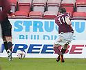Stenny's Darren Smith scores their second goal.