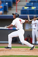 Brevard County Manatees center fielder Corey Ray (2) at bat during a game against the Daytona Tortugas on August 14, 2016 at Space Coast Stadium in Viera, Florida.  Daytona defeated Brevard County 9-3.  (Mike Janes/Four Seam Images)