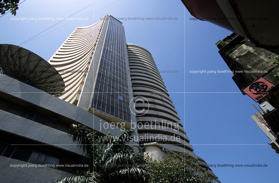 INDIA, Mumbai, stock exchange in Dalal Street / INDIEN, Mumbai, indische Boerse