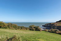 BNPS.co.uk (01202 558833)<br /> Pic: RichardDowner/TheCoastalHouse/BNPS<br /> <br /> Pictured: The view.<br /> <br /> An off-grid beachside 'oasis' that has no mains water or electricity is on the market for £550,000.<br /> <br /> The former coastguard cottage is the ultimate retreat for those looking to get away from the modern world - with an outside toilet, 'gravity' shower and no wi-fi.<br /> <br /> It is one of three cottages, built by Napoleonic prisoners of war, above the remote National Trust-owned Mansands Beach, between Kingswear and Brixham in Devon.<br /> <br /> The two-bedroom cottage has spectacular panoramic views of the sea and the South Devon coastline and the three properties also share access to a private cove below.