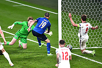 11th July 2021; Wembley Stadium, London, England; 2020 European Football Championships Final England versus Italy; Leonardo Bonucci scores past Pickford of England to make the score 1-1 in the 67th minute